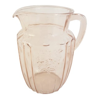 Anchor Hocking Pink Mayfair Pitcher For Sale