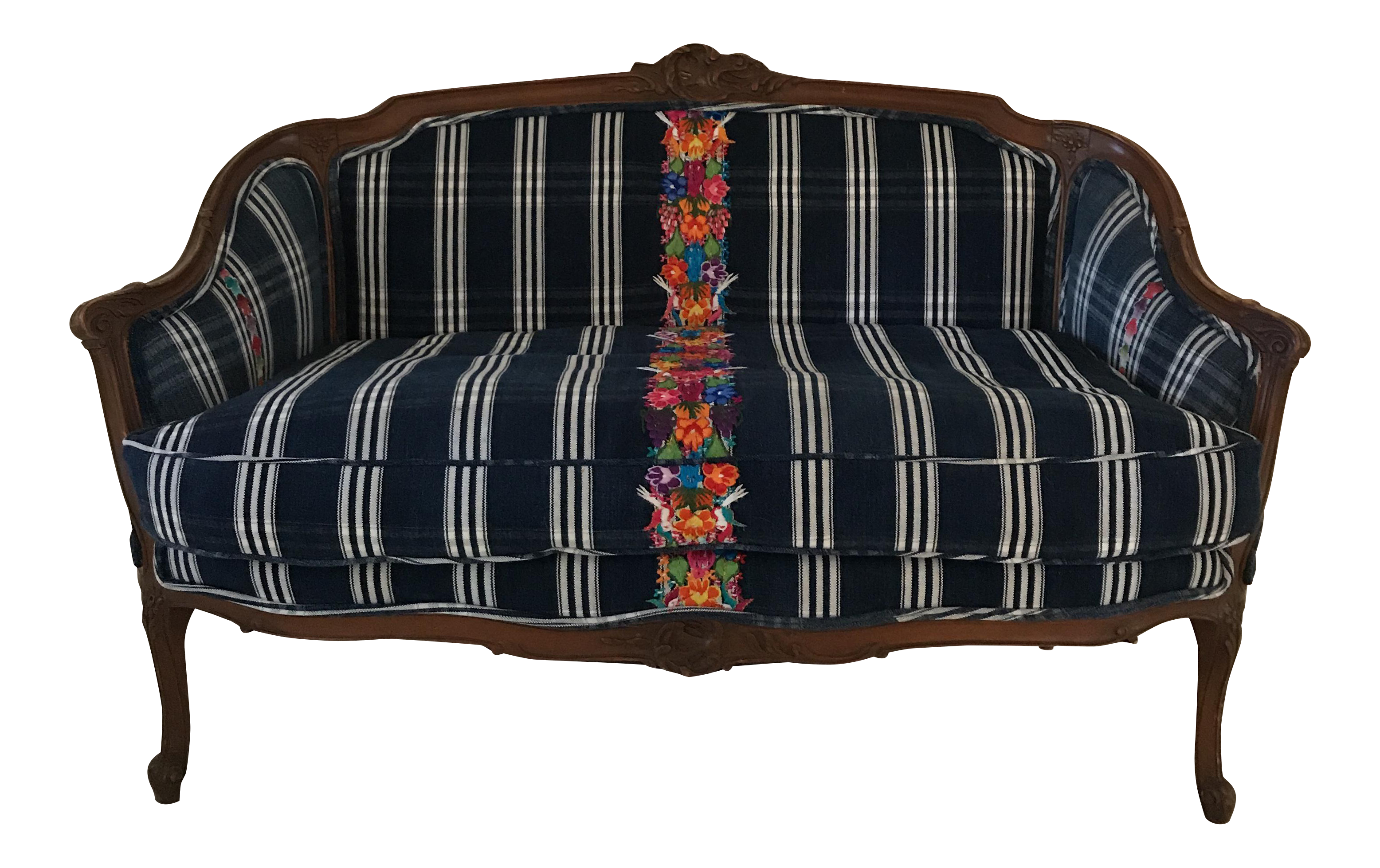 Victorian Style Reupholstered Sofa