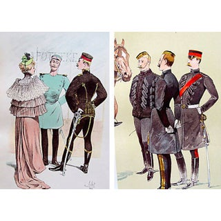French Military Prints, 1893 Set of 2