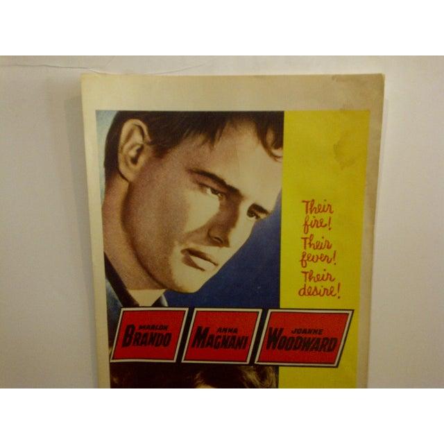 "Mid-Century Modern Vintage ""The Fugitive Kind"" 1960 Movie Poster For Sale - Image 3 of 6"