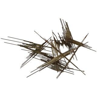 1960s Abstract Metal Sculpture For Sale