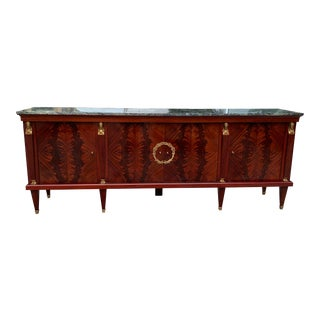 1910s French Empire Mahogany Sideboard For Sale