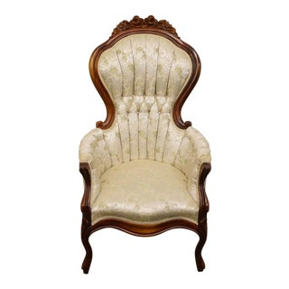 Vintage 1950's Pelham, Shell, & Leckie Victorian Style Lady's Parlor Armchair For Sale