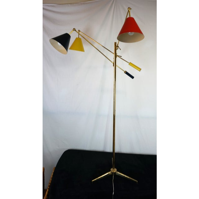 Angelo Lelli for Arredoluce Triennale Floor Lamp For Sale - Image 11 of 11