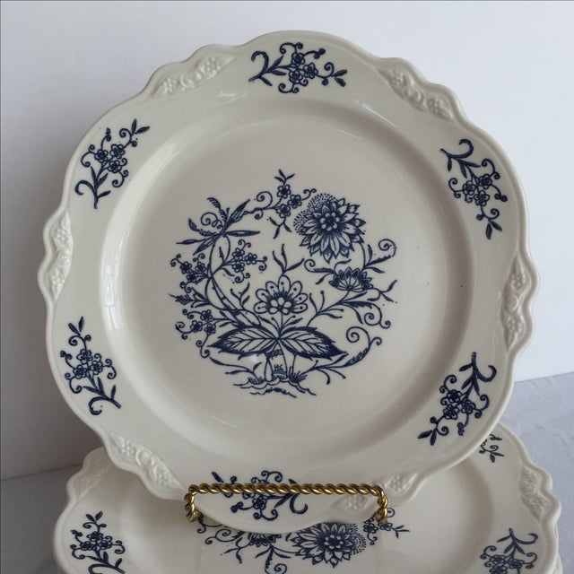 Blue Dresden Plates - Set of 7 For Sale - Image 7 of 10