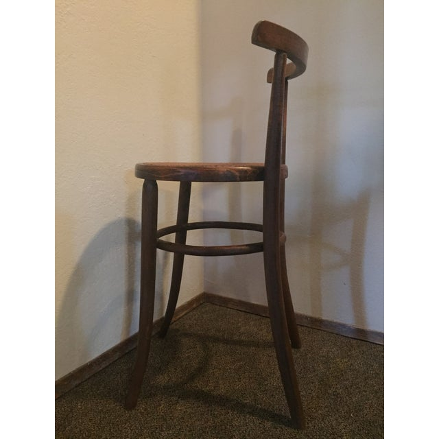Thonet 1930s Antique Thonet Style Bentwood Counter Bar Stool For Sale - Image 4 of 13