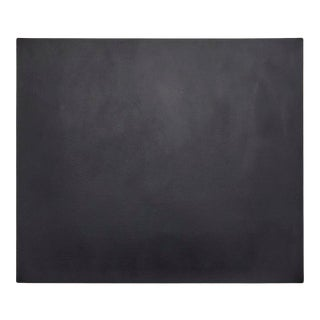 """Leather Desk Mat in 14"""" x 16"""" in Black & Green For Sale"""