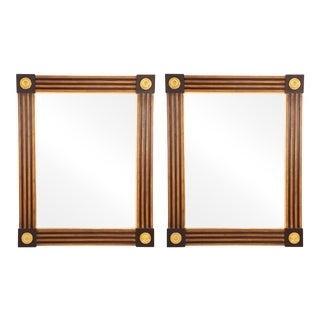 Italian Neoclassical Style Giltwood and Painted Mirrors - a Pair For Sale