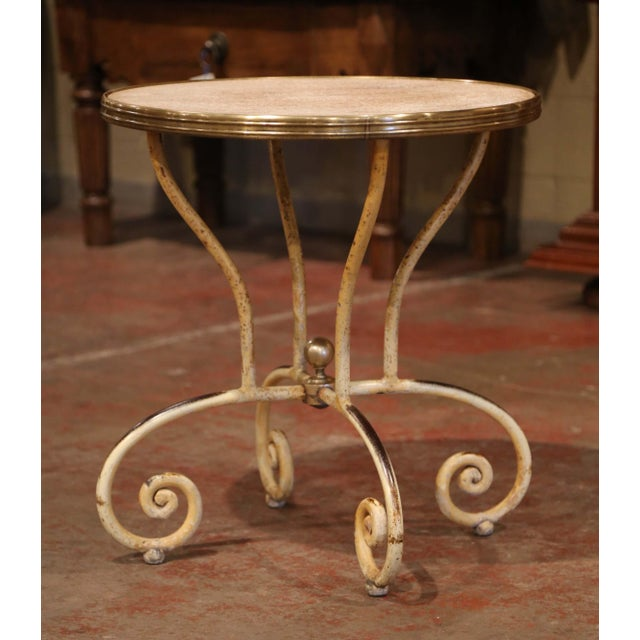 White 19th Century Napoleon III French Iron and Wood Gueridon Pedestal Table For Sale - Image 8 of 8