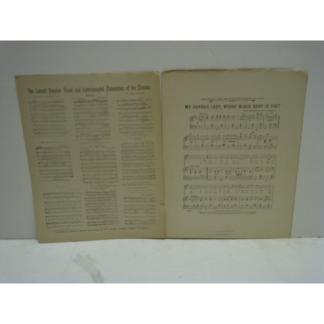 "Vintage ""My Hannah Lady"" Sheet Music For Sale In Pittsburgh - Image 6 of 7"
