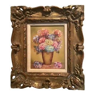 Original Still Life Oil Painting on Canvas in Gold Leaf Stiffel Frame For Sale
