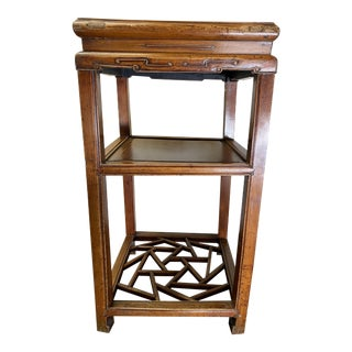 Asian Hand-Crafted Rosewood Accent Table/Plant Stand For Sale