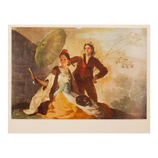 """1950s Goya, """"The Parasol"""" First American Edition Lithograph For Sale"""