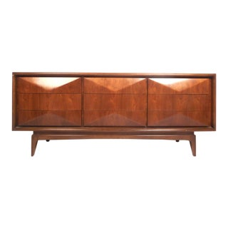 Midcentury Diamond Front Dresser For Sale