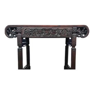Early 19th Century Chinese Scroll Table For Sale