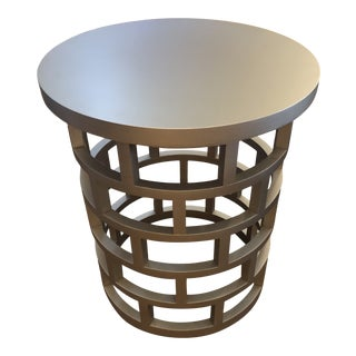 Silver Contemporary Side Table For Sale