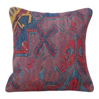 Handmade Turkish Kilim Lumbar Pillow For Sale