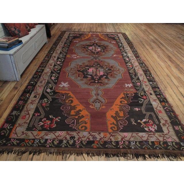 Islamic Large Kars Kilim For Sale - Image 3 of 7
