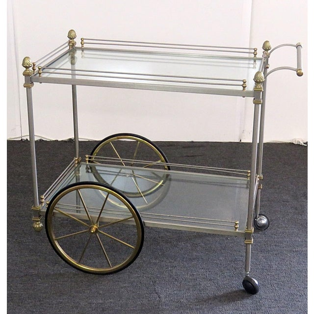 Mid 20th Century Regency Style Bar Cart For Sale - Image 10 of 10