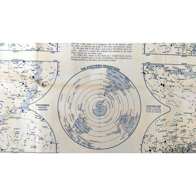 """1970 National Geographic Map of """"The Heavens"""" - Image 9 of 10"""