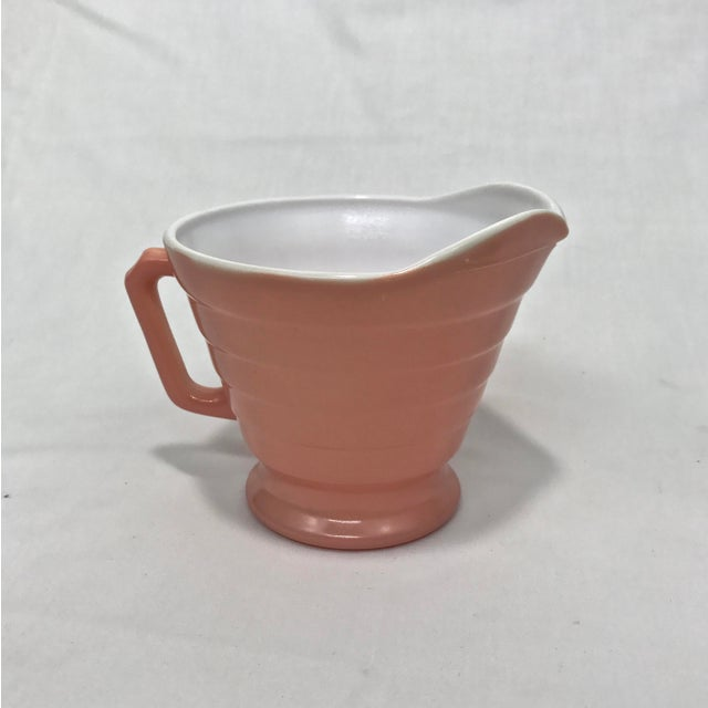 Glass 1940s Moderntone Sugar & Creamer - A Pair For Sale - Image 7 of 8