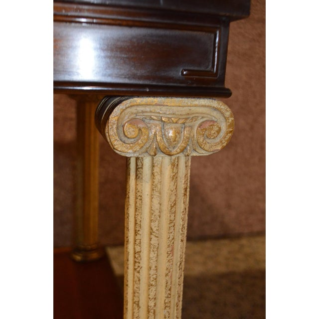 Wood Vintage Neo-Classic Style Corenthian Column Leg Side Tables - a Pair For Sale - Image 7 of 13