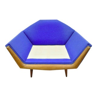 Mid Century Modern Adrian Pearsall Sculptural Walnut Lounge Club Chair For Sale