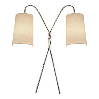 Twist Silver Leaf Wall Light For Sale