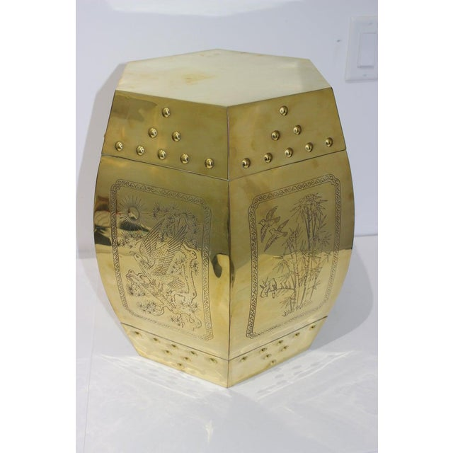 Mid 20th Century Mid-Century Chinese Brass Garden Seat Stool For Sale - Image 5 of 13