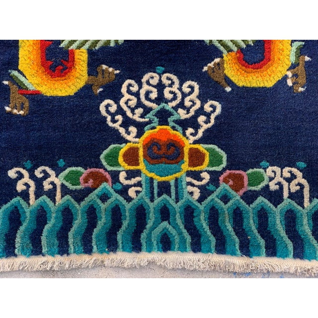 Textile Vintage Chinese Hand Knotted Rugs - A Pair For Sale - Image 7 of 11