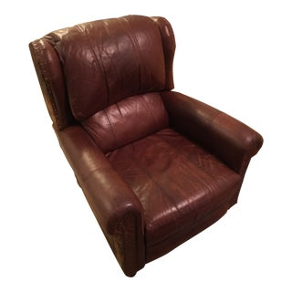 Restoration Hardware Leather & Cowhide Leather Recliner For Sale