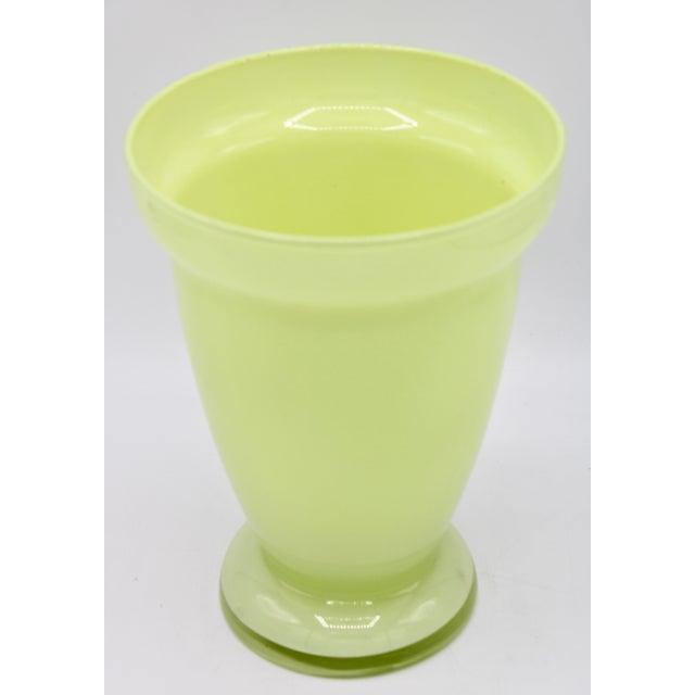 Mid-Century Modern Mid Century Modern Celery Green Glass Vase For Sale - Image 3 of 8