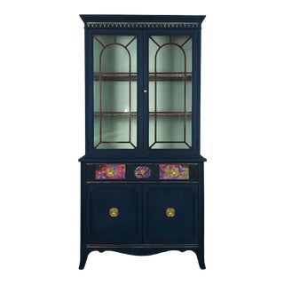 1940s Traditional Bernhardt China Cabinet For Sale
