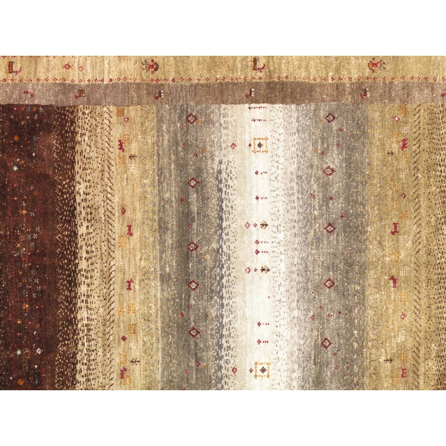 """Tribal Hand-Knotted Shiraz Wool Rug - 5'7"""" X 7'8"""" - Image 2 of 4"""
