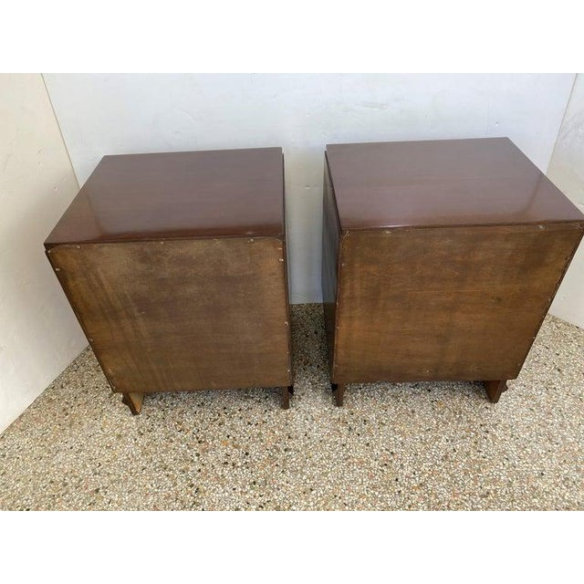 1930s French Art Deco Moderne Night Stands - a Pair For Sale - Image 12 of 13