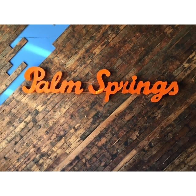 Industrial Orange Palm Springs Metal Sign - Image 2 of 3