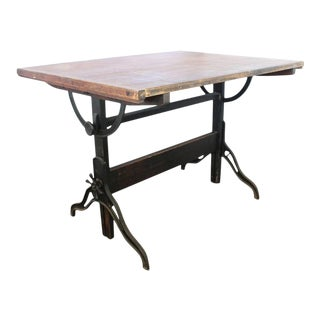 Antique Dietzgen American Drafting Table For Sale
