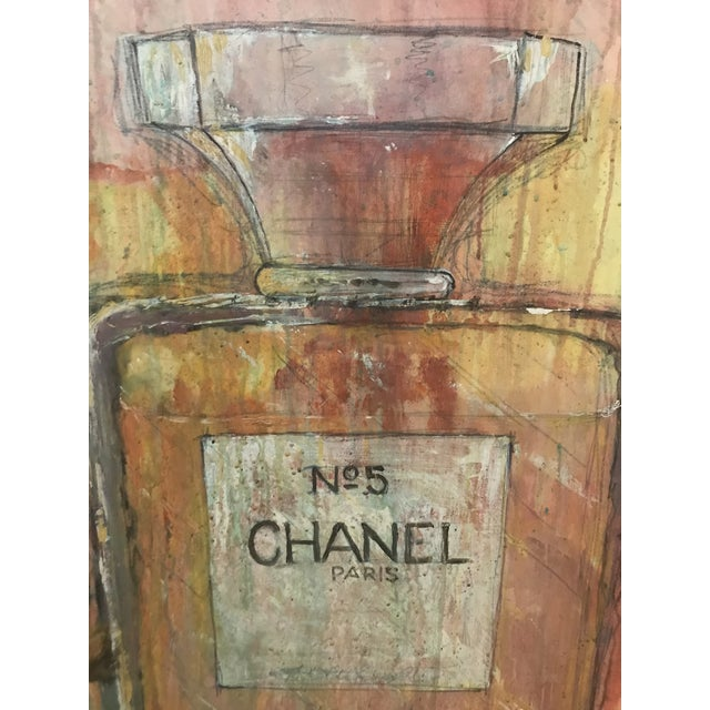 """""""Chanel"""" is Venetian plaster over wood in saturated pastel shades. 36"""" x 48"""""""