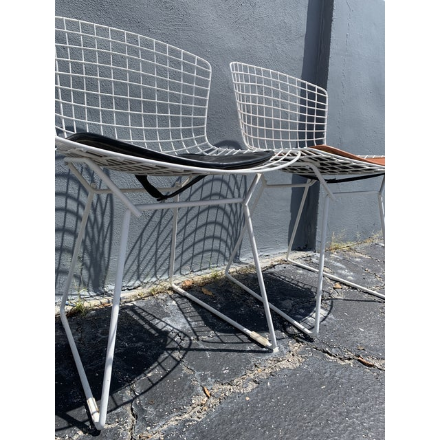 Knoll Vintage Mid Century Modern Dining Chairs by Harry Bertoia for Knoll - Set of 4 For Sale - Image 4 of 13