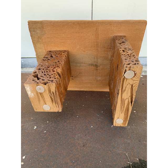 Studio Craft Pecky Cypress Table For Sale In Tampa - Image 6 of 11