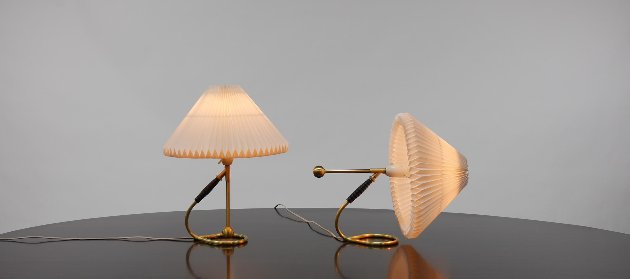 klint lighting. Gold Pair Of Le Klint 306 Lamps By Kaare For Sale - Image 8 Klint Lighting