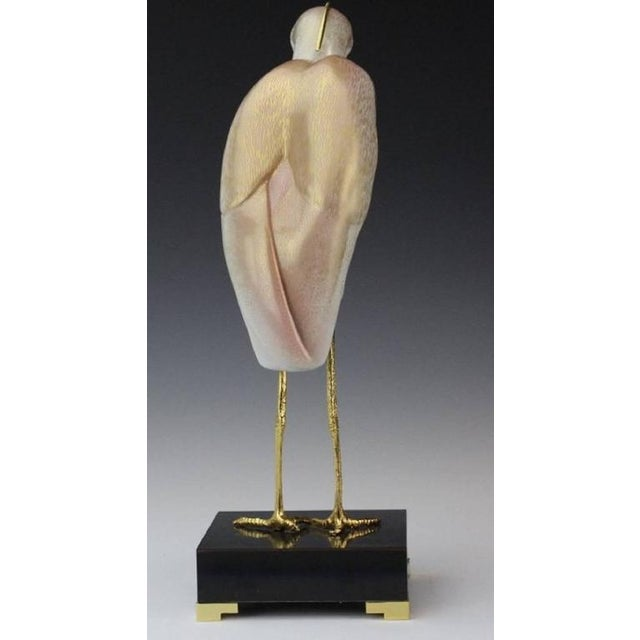 1980s 1980s Realism Stork Sculpture by Mangani for the Oggetti Company For Sale - Image 5 of 8