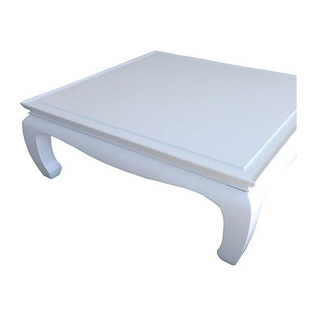 White Lacquered Ming Coffee Table