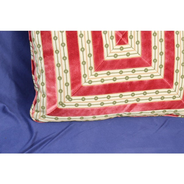 Mid C. Down Filled Possibly Silk Velvet, Unique Pillow