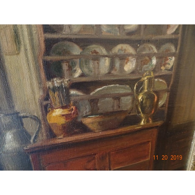 Interior Oil on Canvas For Sale - Image 4 of 12