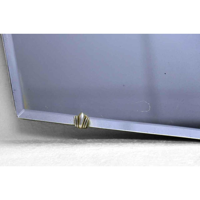 Unusual Small Geometric Shaped Beveled Frameless Mirror For Sale - Image 4 of 6