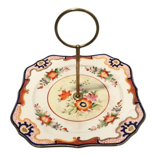 Mid-Century Japanese Imari Style Square Serving Tray For Sale
