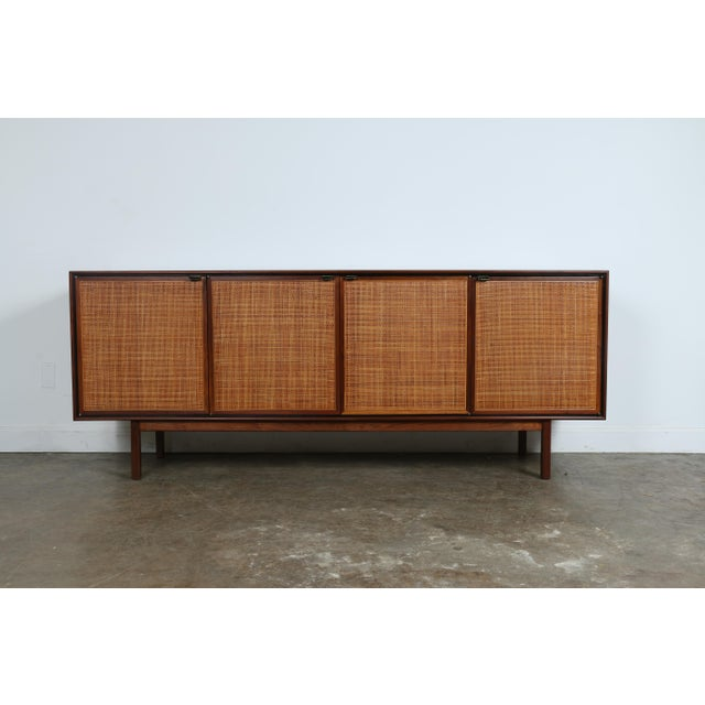 Walnut Cane Credenza by Founders - Image 2 of 11