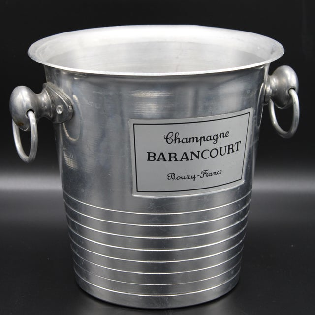 Metal Vintage French Barancourt Champagne Ice Bucket For Sale - Image 7 of 13