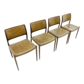 Niels O. Møller Dining Room Chairs Model 80 Danish Modern For Sale